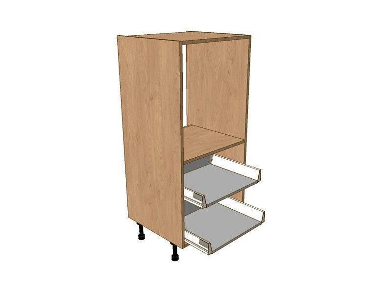 Broadoak Alabaster 600mm Midi Single Oven Housing - 2 Pan