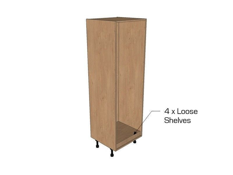 Milbourne Almond 300mm Open Tall Unit 1825mm High