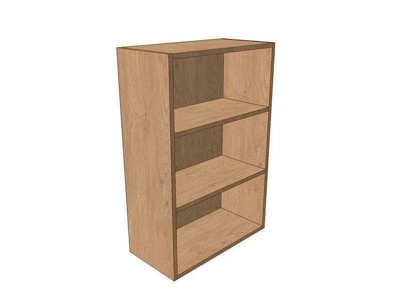 Remo Gloss Alabaster 600mm Open Wall Shelf Unit 900mm High
