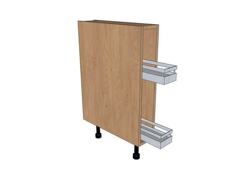 Remo Matt Paint To Order 150mm Pull Out Base Unit With Style Pull Out