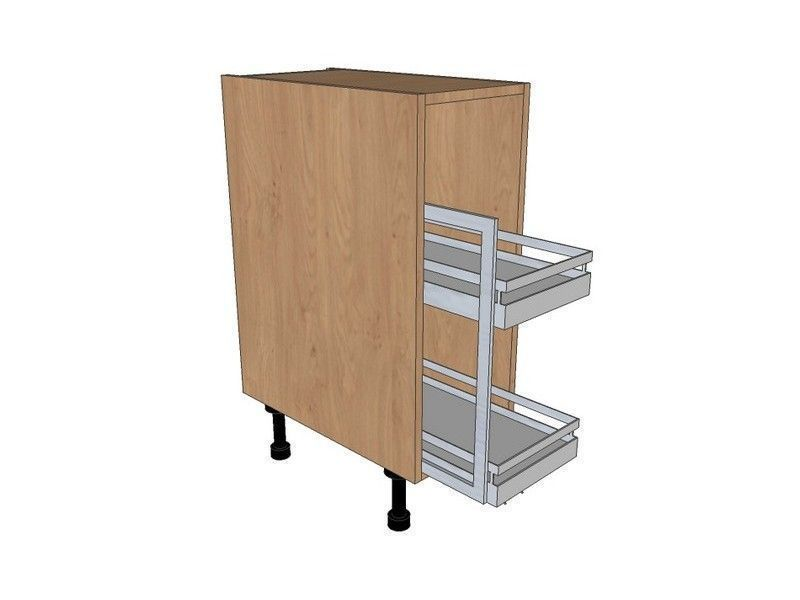 Remo Matt Paint To Order 400mm Pull Out Base Unit With Style Pull Out