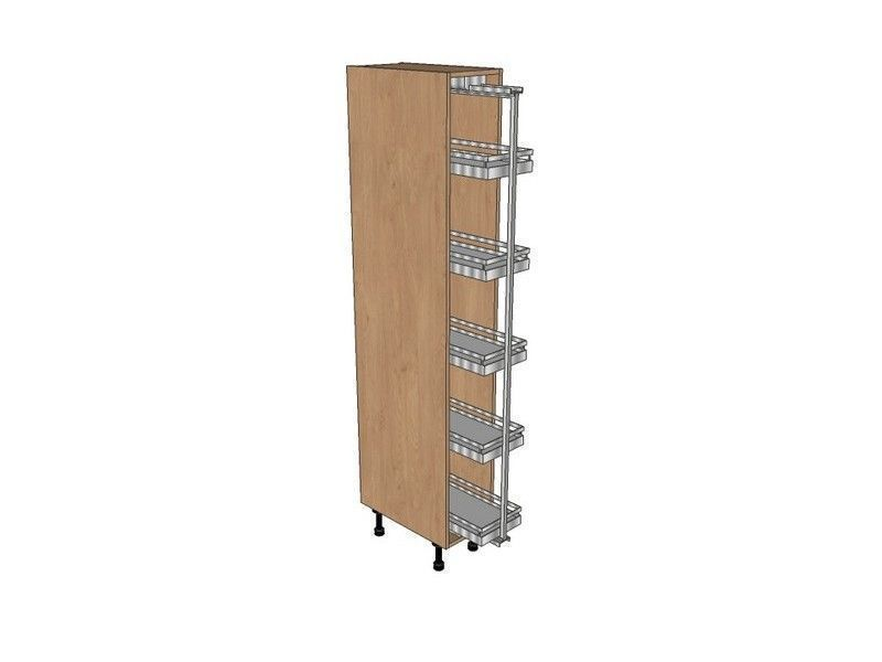 Fitzroy Partridge Grey 300mm Pull Out Larder Unit With Arena Pull Out 1970mm High