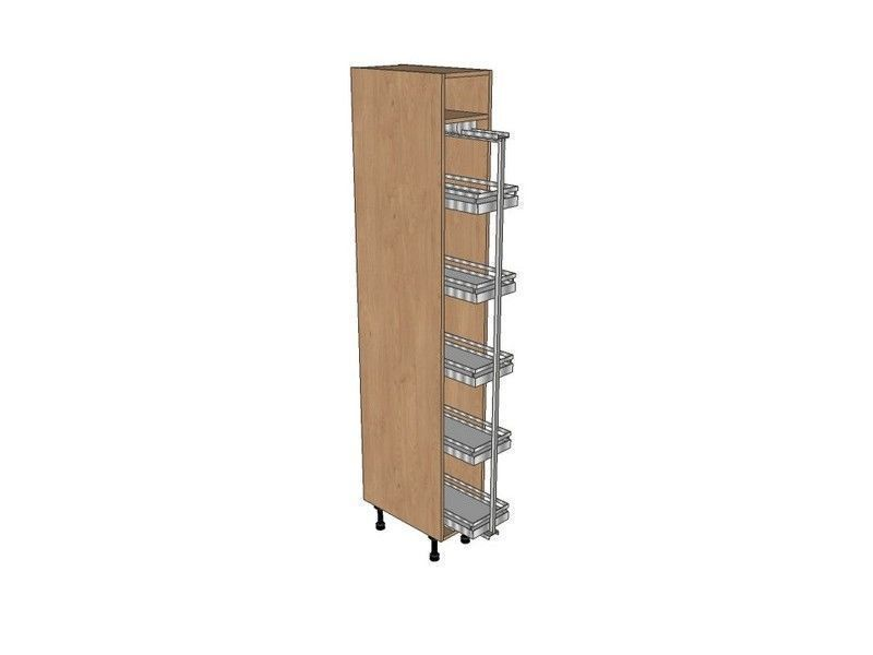 Mornington Shaker Partridge Grey 300mm Pull Out Larder Unit With Arena Pull Out 2150mm High