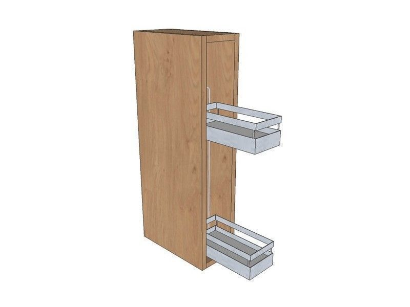 Mornington Shaker Partridge Grey 150mm Pull Out Wall Unit 720mm High With Pull Out