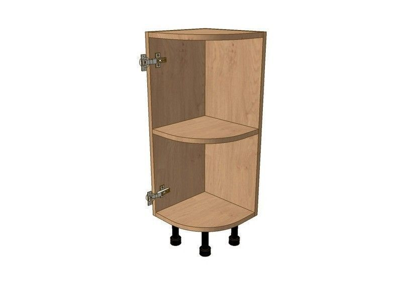 Mornington Beaded Sanded 300mm Highline Small Curved Base Unit LH