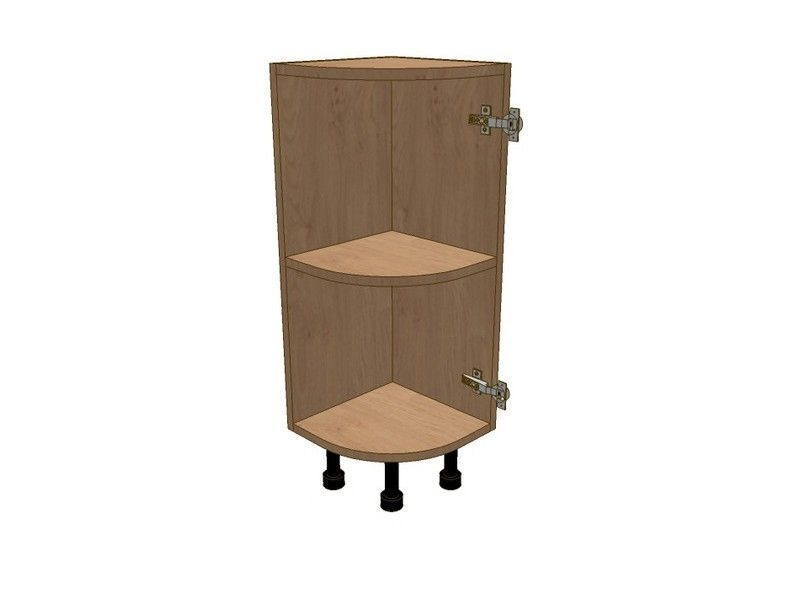 Milbourne Almond 300mm Highline Small Curved Base Unit RH