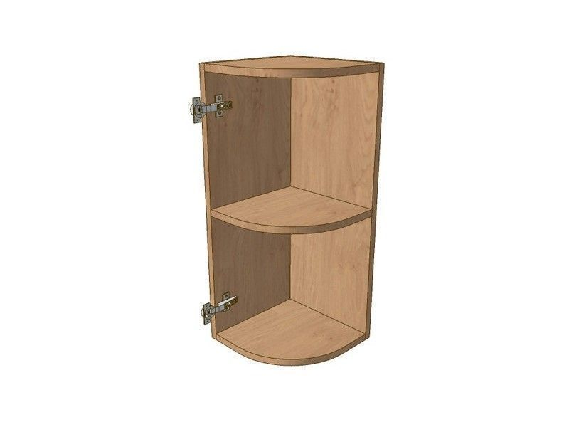 Broadoak Natural 300mm Small Curved Wall Unit LH 720mm High