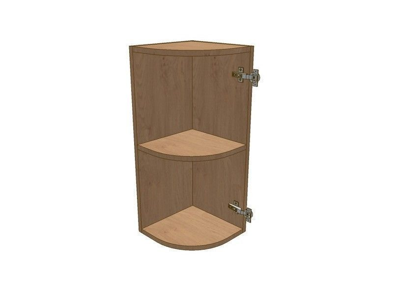 Broadoak Natural 300mm Small Curved Wall Unit RH 720mm High