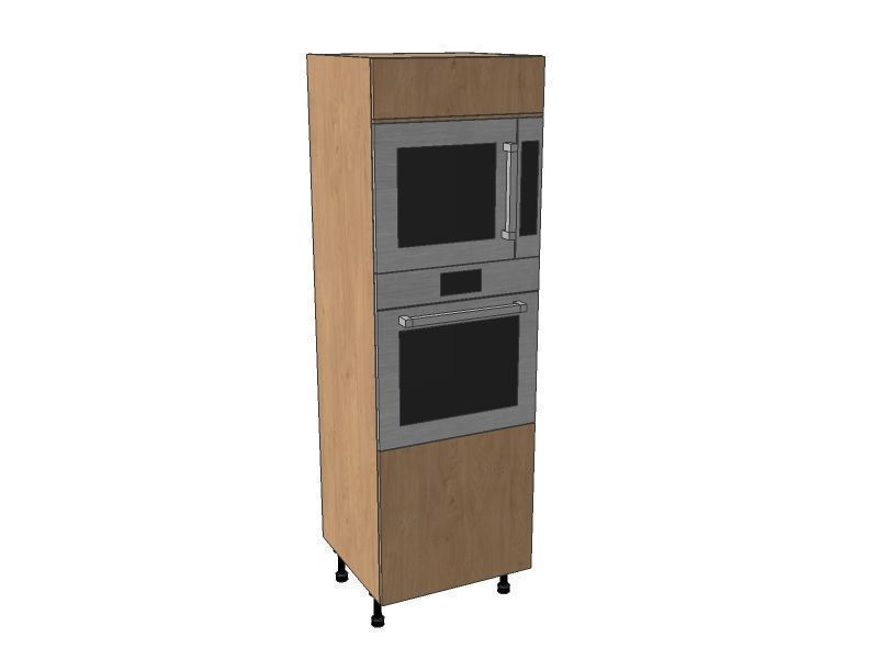 Mornington Shaker Sanded 600mm Single Oven & Microwave Housing Unit 1825mm High