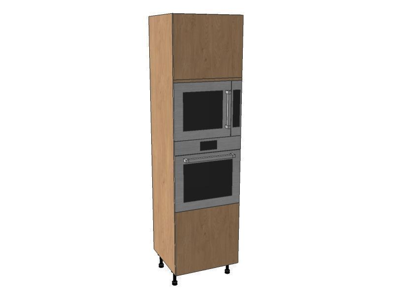 Remo Matt Paint To Order 600mm Single Oven & Microwave Housing Unit 2150mm High