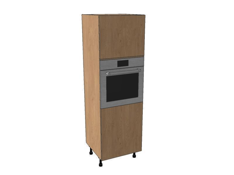 Milbourne Almond 600mm Single Oven Housing Unit 1825mm High