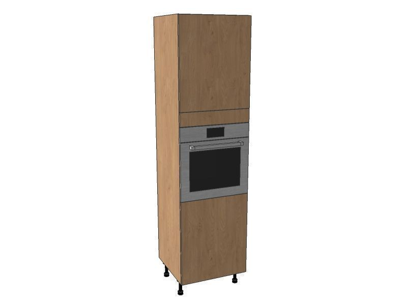 Remo Gloss Alabaster 600mm Single Oven Housing Unit 2150mm High