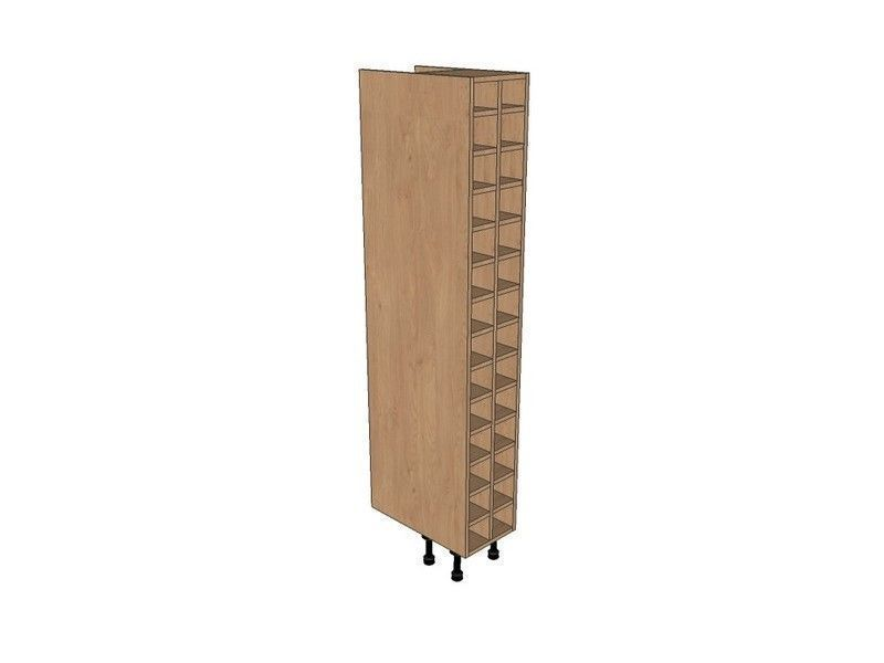Remo Gloss Dove Grey 300mm Tall Wine Rack Pigeon Hole 1825mm High