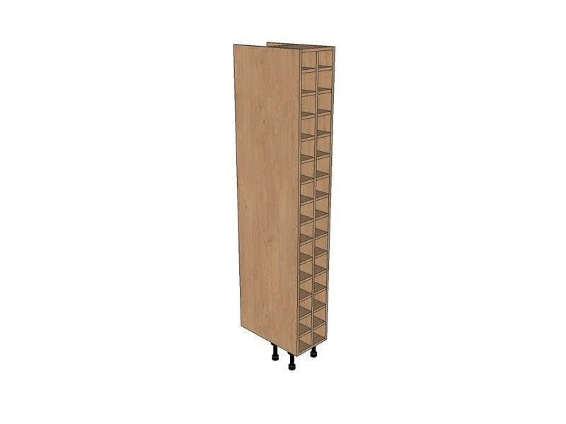 Remo Gloss White 300mm Tall Wine Rack Pigeon Hole 1970mm High