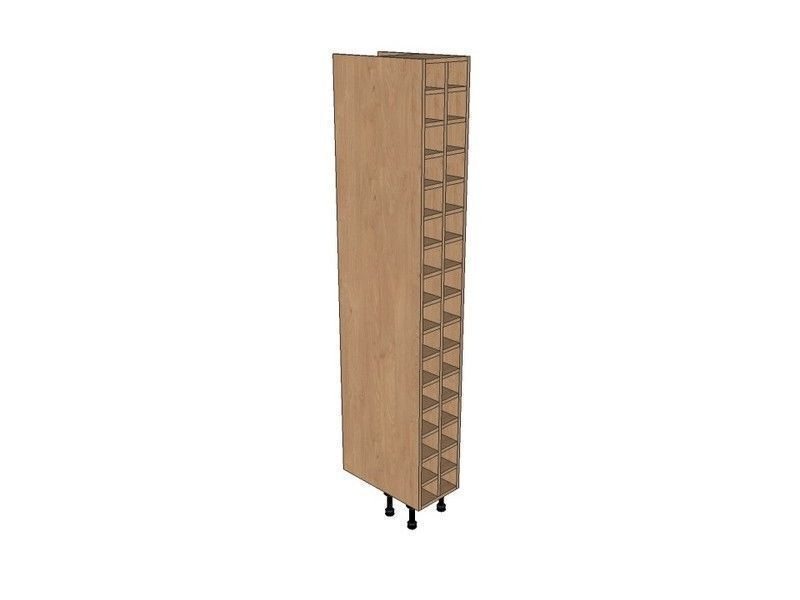 Remo Gloss Dove Grey 300mm Tall Wine Rack Pigeon Hole 2150mm High