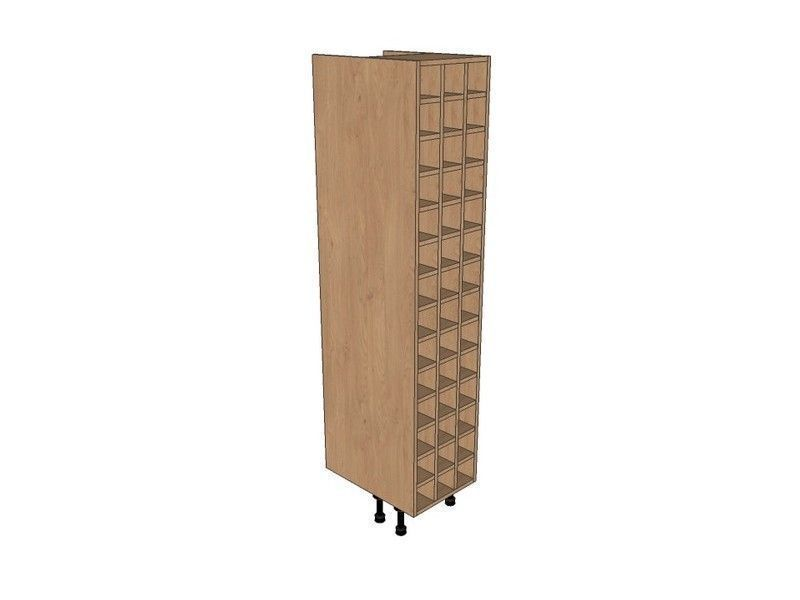 Remo Gloss Dove Grey 400mm Tall Wine Rack Pigeon Hole 1825mm High