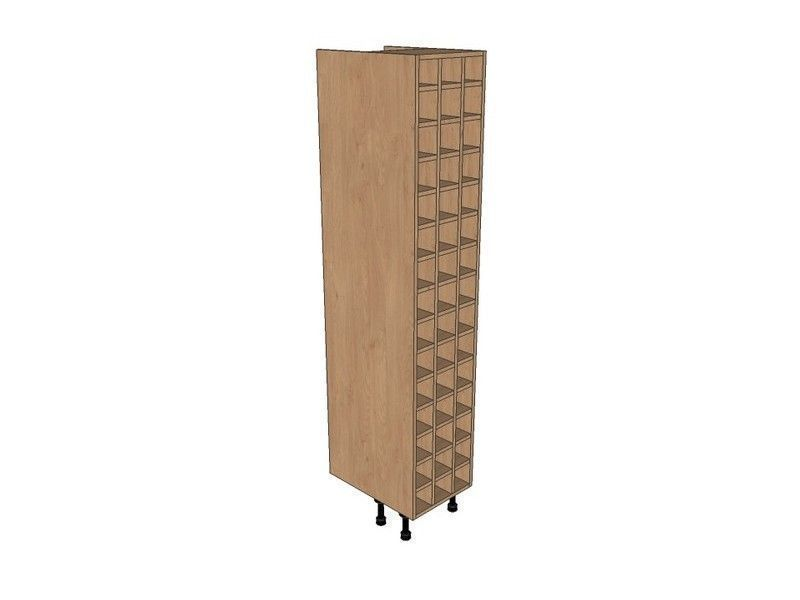 Remo Gloss White 400mm Tall Wine Rack Pigeon Hole 1970mm High