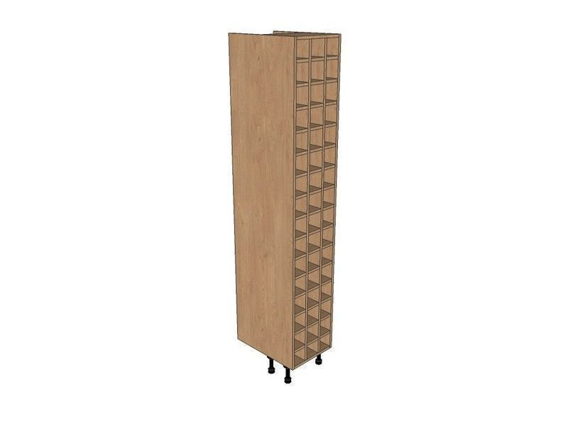 Remo Gloss Dove Grey 400mm Tall Wine Rack Pigeon Hole 2150mm High