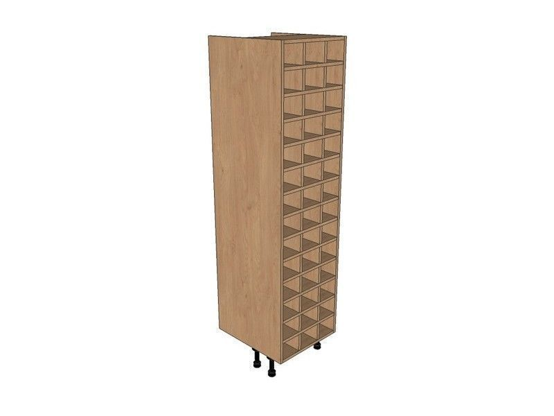 Remo Gloss Dove Grey 500mm Tall Wine Rack Pigeon Hole 1825mm High