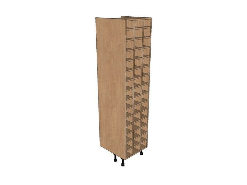 Broadoak Sanded 500mm Tall Wine Rack Pigeon Hole 1970mm High