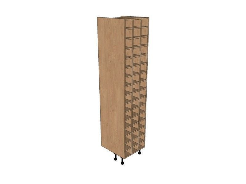 Remo Gloss Dove Grey 500mm Tall Wine Rack Pigeon Hole 2150mm High