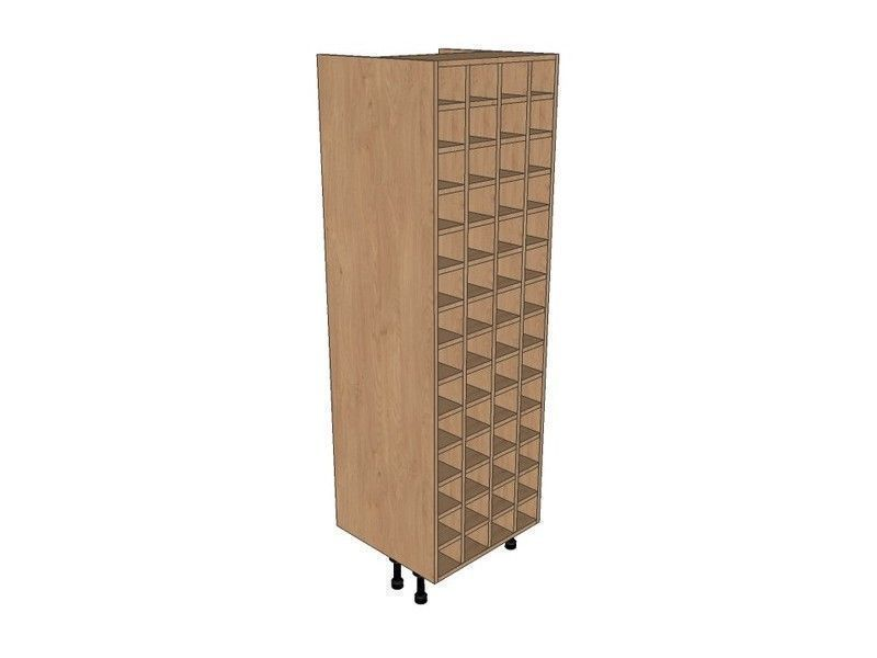 Remo Gloss Alabaster 600mm Tall Wine Rack Pigeon Hole 1825mm High