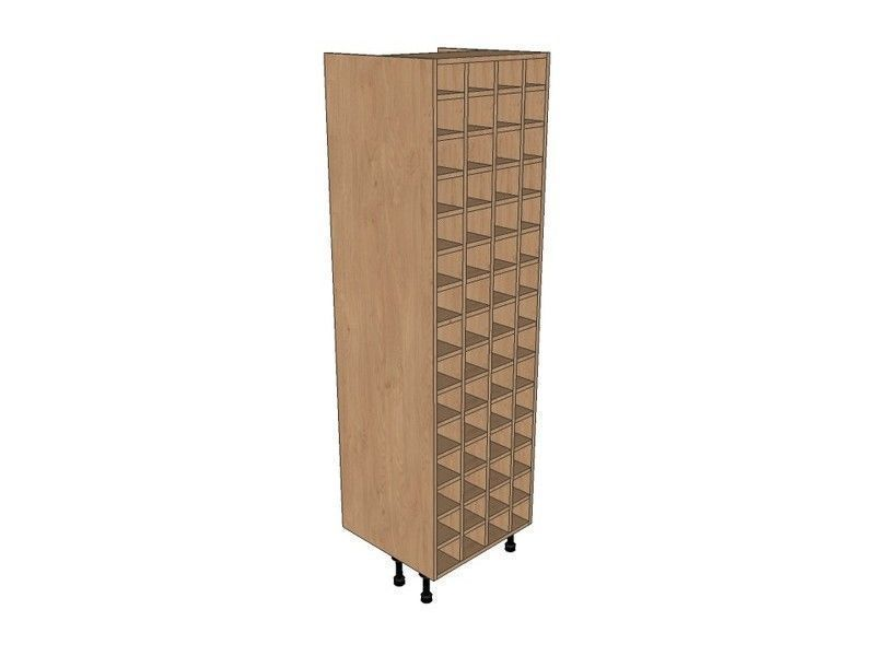 Broadoak Sanded 600mm Tall Wine Rack Pigeon Hole 1970mm High