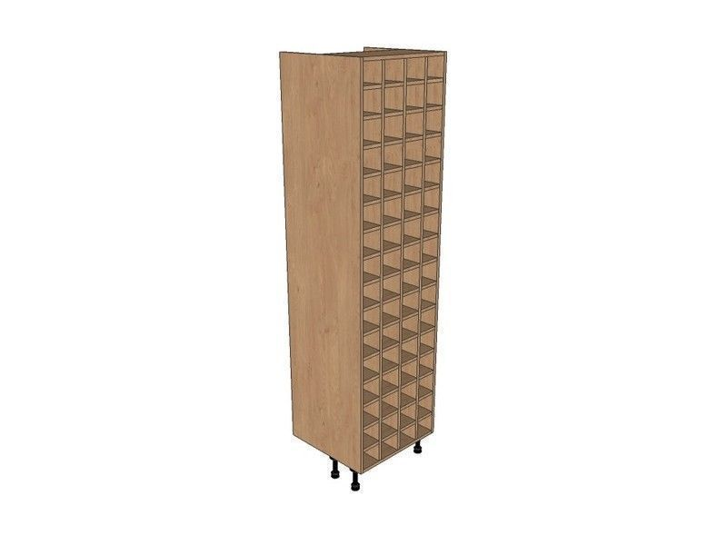 Remo Gloss Dove Grey 600mm Tall Wine Rack Pigeon Hole 2150mm High