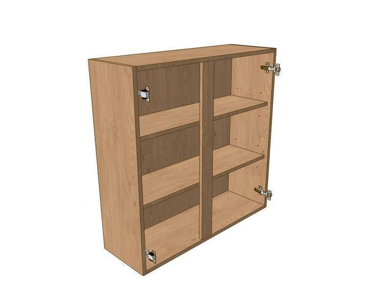Milton Sanded In-frame 1100mm Wall Unit 900mm High 500mm LH & 600mm RH