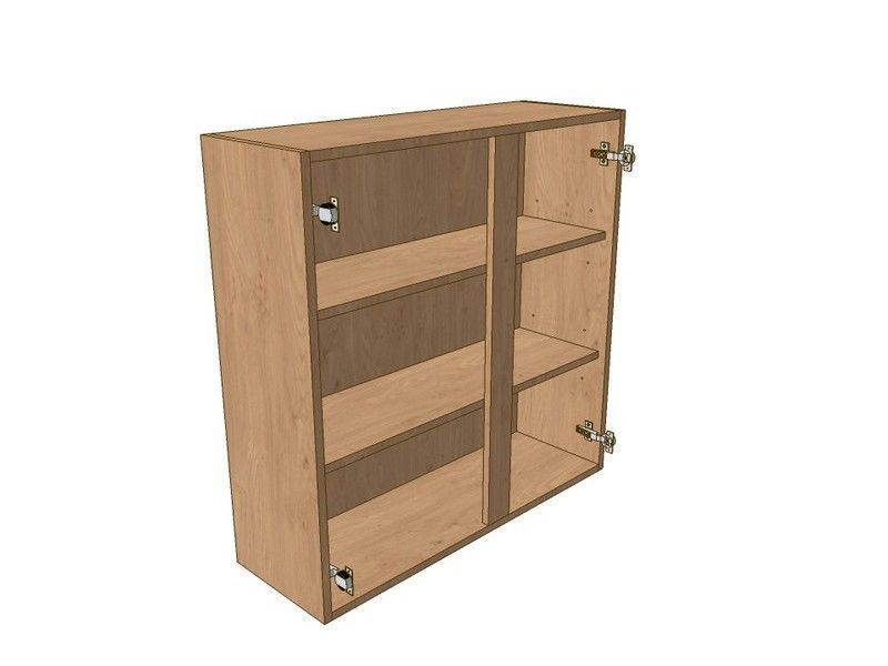Milton Sanded In-frame 900mm Wall Unit 900mm High 500mm LH & 400mm RH