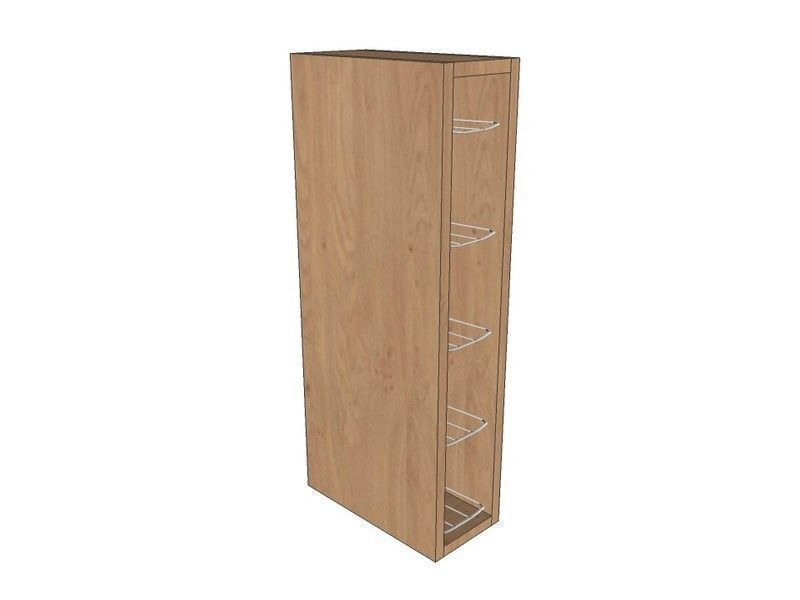 Porter Gloss Paint To Order 150mm Wall Unit 720mm High With Chrome Wine Rack