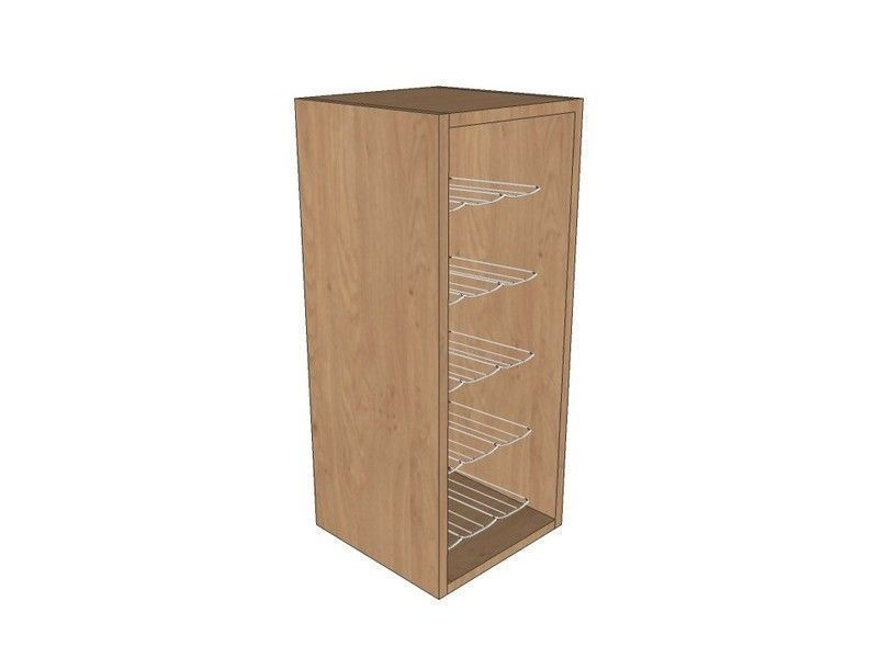 Mornington Shaker Paint To Order 300mm Wall Unit 720mm High With Chrome Wine Rack
