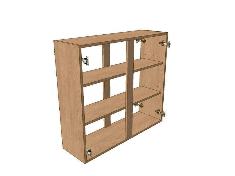 Milton Sanded In-frame 800mm Wall Peninsular Unit 900mm High