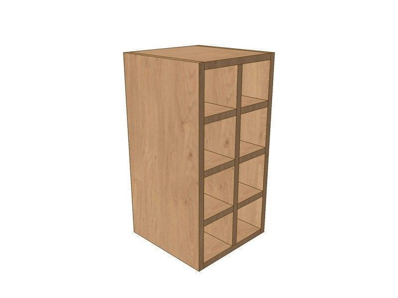 Milbourne Alabaster 300mm Wall Wine Rack Pigeon Hole Unit 575mm High