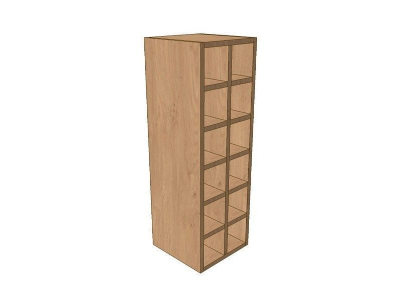Mornington Shaker Stone 300mm Wall Wine Rack Pigeon Hole Unit 900mm High