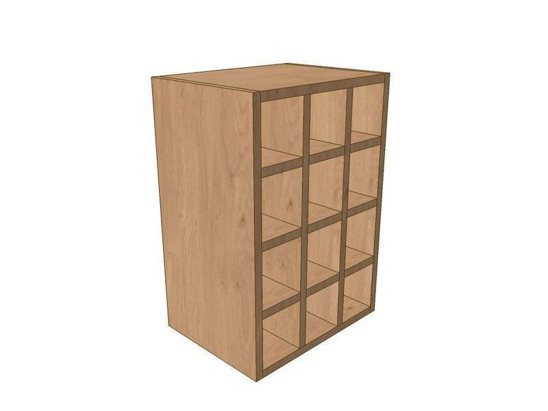 Milton Sanded In-frame 400mm Wall Wine Rack Pigeon Hole Unit 575mm High