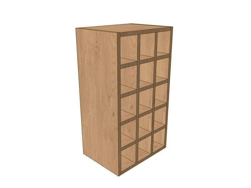 Mornington Shaker Paint To Order 400mm Wall Wine Rack Pigeon Hole Unit 720mm High