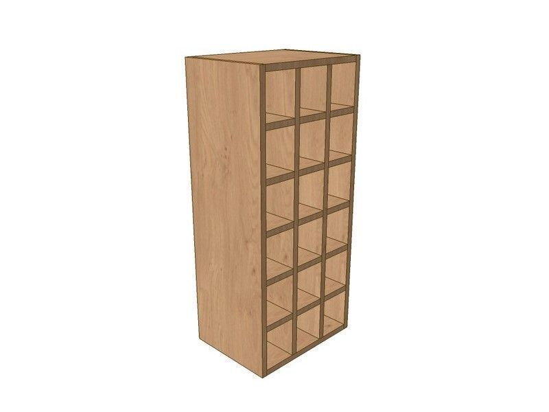 Mornington Shaker Stone 400mm Wall Wine Rack Pigeon Hole Unit 900mm High