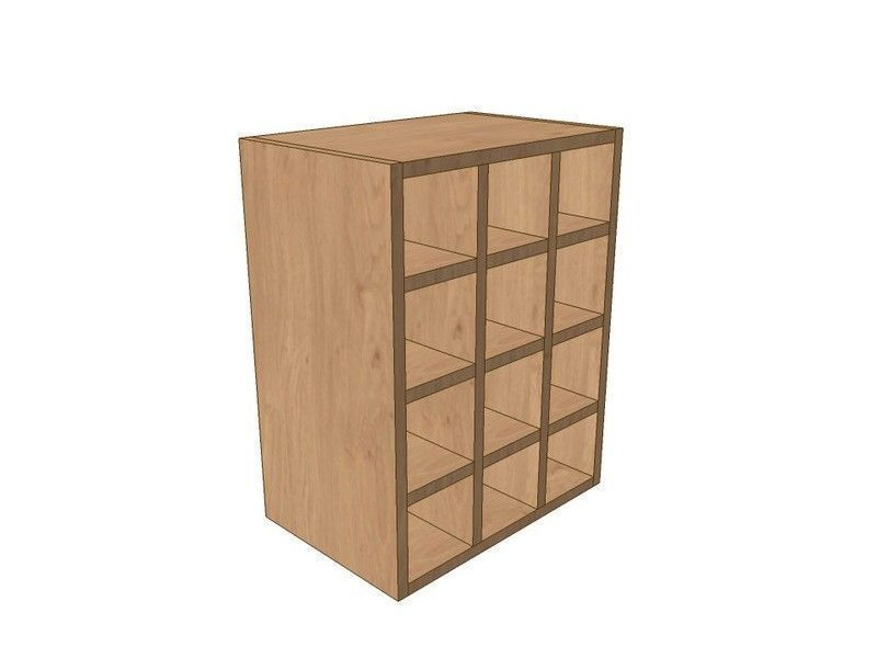 Milton Sanded In-frame 450mm Wall Wine Rack Pigeon Hole Unit 575mm High
