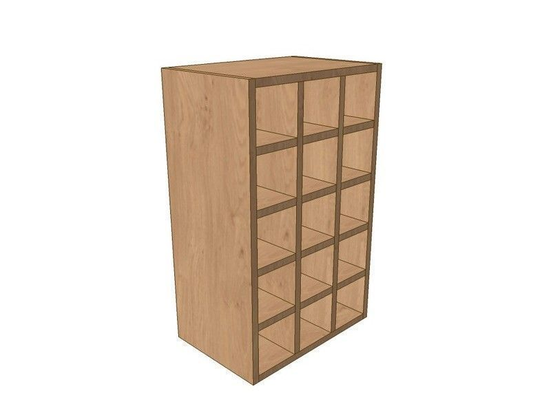 Mornington Shaker Paint To Order 450mm Wall Wine Rack Pigeon Hole Unit 720mm High