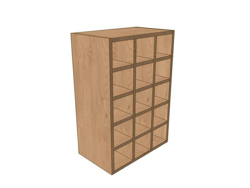Mornington Shaker Paint To Order 500mm Wall Wine Rack Pigeon Hole Unit 720mm High