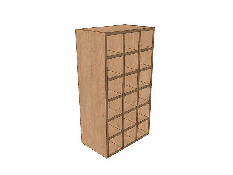 Milbourne Partridge Grey 500mm Wall Wine Rack Pigeon Hole Unit 900mm High