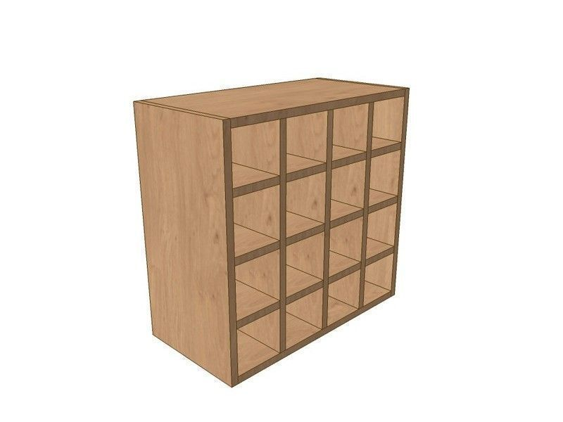 Milton Sanded In-frame 600mm Wall Wine Rack Pigeon Hole Unit 575mm High