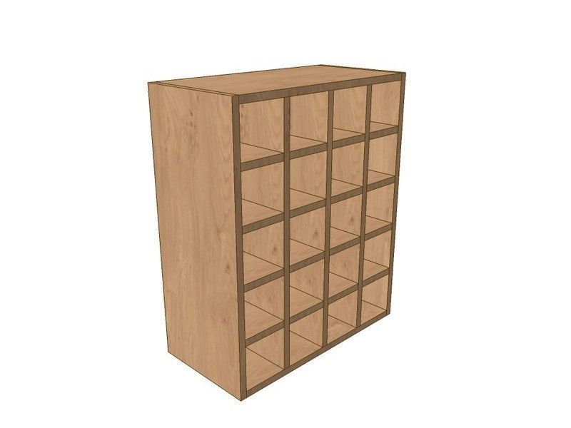 Mornington Shaker Paint To Order 600mm Wall Wine Rack Pigeon Hole Unit 720mm High