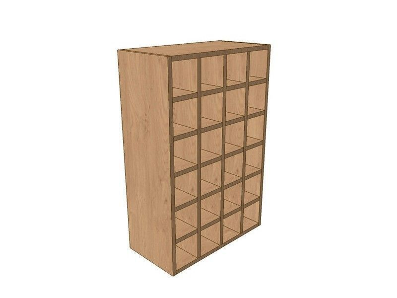 Mornington Shaker Stone 600mm Wall Wine Rack Pigeon Hole Unit 900mm High