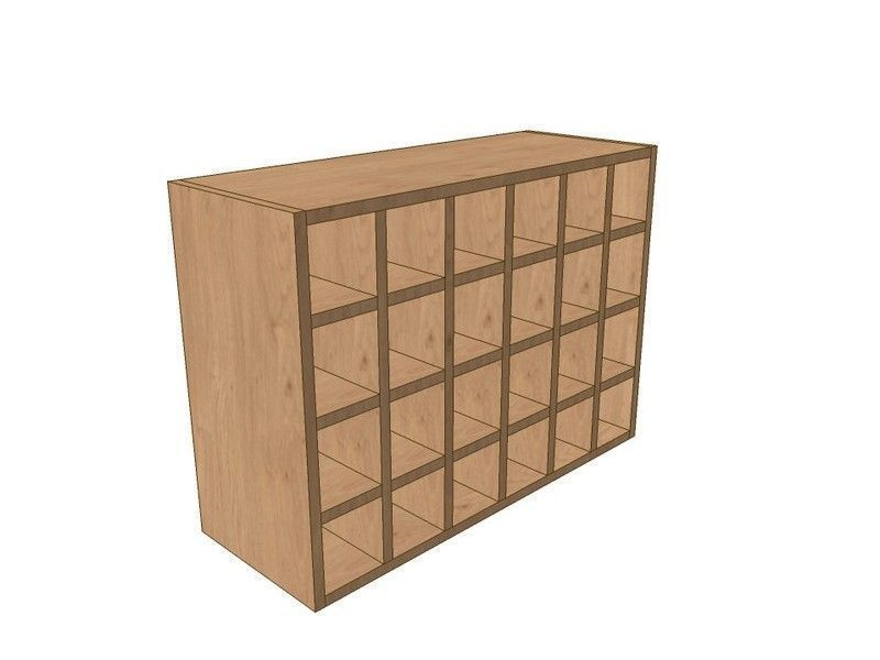 Milton Sanded In-frame 800mm Wall Wine Rack Pigeon Hole Unit 575mm High
