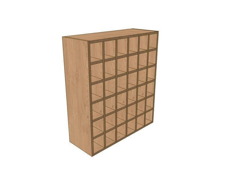 Mornington Beaded Sanded 800mm Wall Wine Rack Pigeon Hole Unit 900mm High