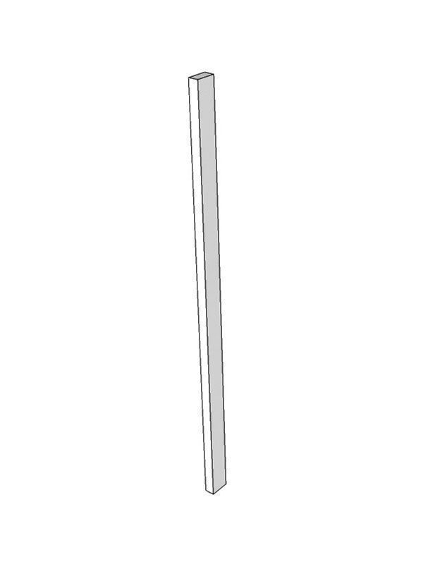 Tomba Gloss Paint To Order Appliance/larder feature end post, 3000x100x49.5mm