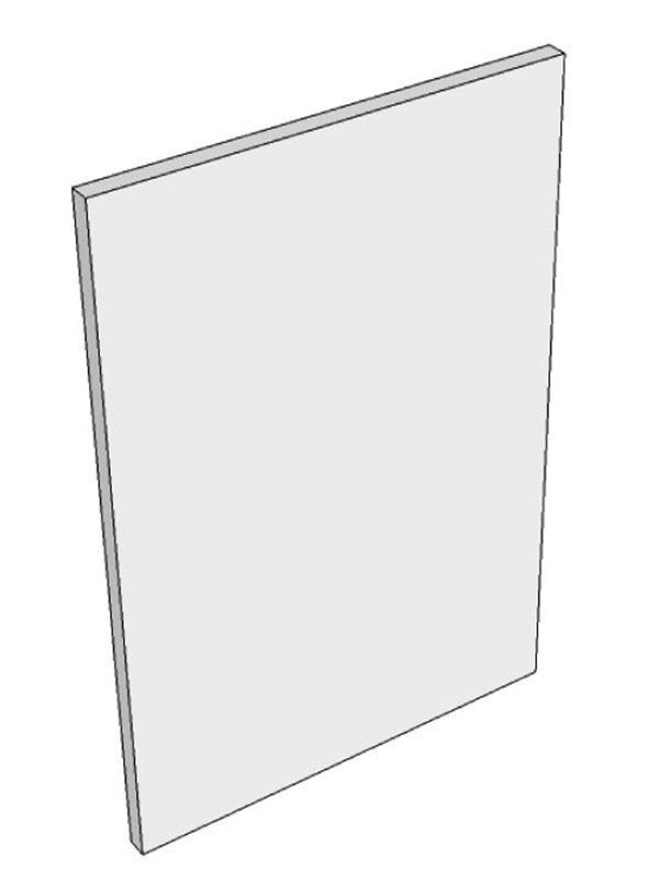 Remo Matt White Base end panel, finished both sides and radiussed edges, 900x650x18mm