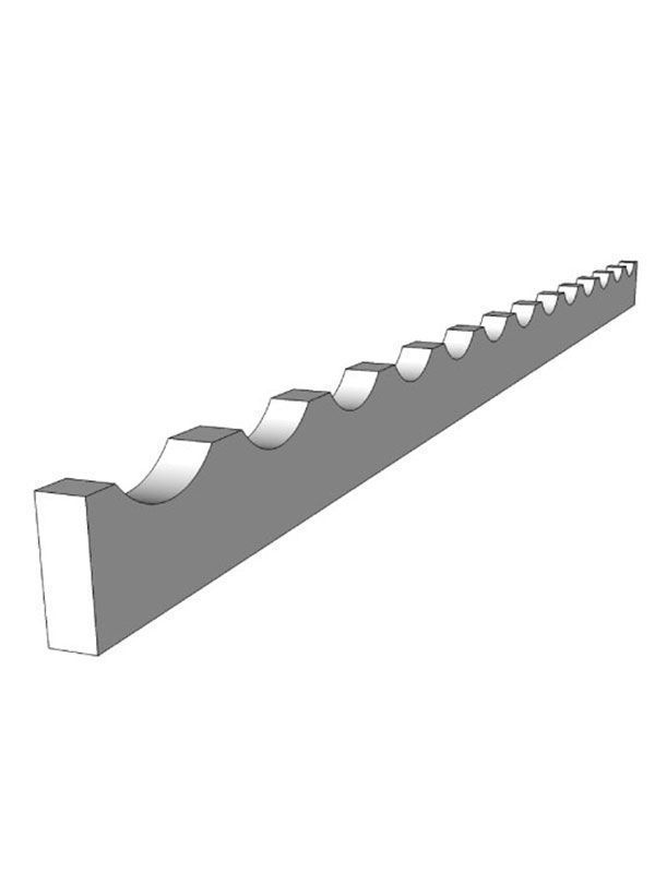 Milbourne Chalk Bottle rack, 1200x58x20mm